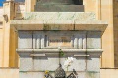"""€ """"03 do Madri/Espanha 03 2019: Estátua do papa Jean Paul II na Espanha do Madri fotografia de stock royalty free"""