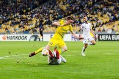 """€ """"Astaná, Septem de Kyiv del dínamo del partido de fútbol de la liga del Europa de la UEFA fotografía de archivo libre de regalías"""