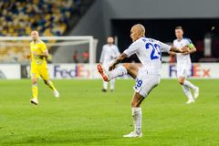 """€ """"Astaná, Septem de Kyiv del dínamo del partido de fútbol de la liga del Europa de la UEFA fotografía de archivo"""