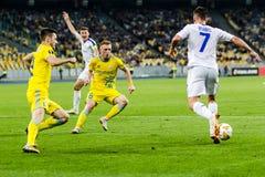 """€ """"Astaná, Septem de Kyiv del dínamo del partido de fútbol de la liga del Europa de la UEFA imagen de archivo"""