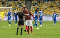 """€ """"Maritimo, Augu de Kyiv del dínamo del partido de fútbol de la liga del Europa de la UEFA Fotografía de archivo"""