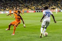 """€ """"Skenderbeu de Kyiv do dínamo do fósforo de futebol da liga do Europa do UEFA, SE Imagem de Stock"""