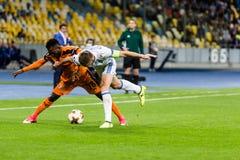 """€ """"Skenderbeu, SE de Kyiv del dínamo del partido de fútbol de la liga del Europa de la UEFA Imágenes de archivo libres de regalías"""