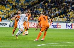 """€ """"Skenderbeu, SE de Kyiv del dínamo del partido de fútbol de la liga del Europa de la UEFA Fotografía de archivo"""
