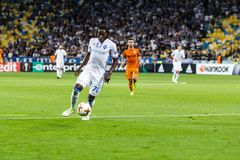 """€ """"Skenderbeu, SE de Kyiv del dínamo del partido de fútbol de la liga del Europa de la UEFA Fotos de archivo"""