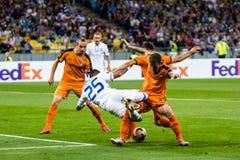 """€ """"Skenderbeu, SE de Kyiv del dínamo del partido de fútbol de la liga del Europa de la UEFA Imagenes de archivo"""
