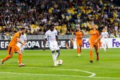"""€ """"Skenderbeu, SE de Kyiv del dínamo del partido de fútbol de la liga del Europa de la UEFA Fotos de archivo libres de regalías"""