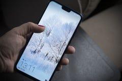 "€ Belgrads, Serbien ""am 20. Oktober 2018: Die Ehre 8X Smartphone lizenzfreies stockbild"