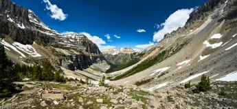 "€ de ""†de Stanley Glacier do parque nacional Kootenay ""que caminha o Columbia Britânica fotos de stock royalty free"