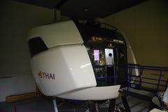 """€ de Bangkok, Tailandia """"5 de diciembre de 2017: Centro de entrenamiento del piloto de Thai Airways Boeing 777-300ER en Bangkok fotografía de archivo libre de regalías"""