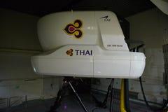 """€ de Banguecoque, Tailândia """"5 de dezembro de 2017: Centro de aprendizado piloto de Thai Airways Airbus 380-800 em Banguecoque Imagem de Stock Royalty Free"""