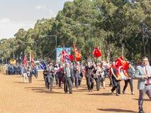 """€ de CANBERRA, AUSTRÁLIA """"25 de abril de 2019: Um contingente que marcha em Anzac Day National Ceremony realizado anualmente em  imagens de stock royalty free"""