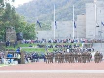 € de CANBERRA, AUSTRALIE «le 25 avril 2019 : L'adresse a livré par son général d'excellence Sir Peter Cosgrove honorable AK MC  photos stock