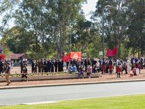 € de CANBERRA, AUSTRALIE « le 25 avril 2019 : Un contingent dispose à marcher chez Anzac Day National Ceremony tenu annuellement photo libre de droits