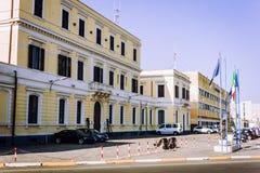 """€ de Catania, Sicília, Itália """"14 de agosto de 2018: O Catania Port Authority, construções administrativas fotografia de stock royalty free"""