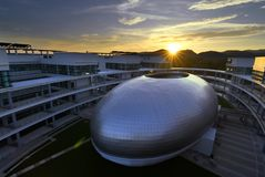 """€ de CHIANGMAI """"25 de enero de 2018: Nueva arquitectura moderna de la escuela agrícola de la investigación y desarrollo en Mae H Imagen de archivo"""
