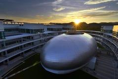 """€ de CHIANGMAI """"25 de janeiro de 2018: Arquitetura moderna nova da escola da investigação agrícola e do desenvolvimento em Mae H Imagem de Stock"""