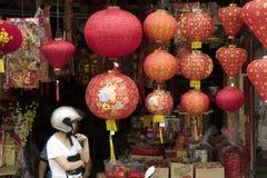 """€ de KUALA LUMPUR, MALÁSIA do """"lanternas 23 de janeiro de 2011 pelo ano novo chinês Fotos de Stock Royalty Free"""
