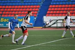 """€ de Orenburg, Rusia """"año del 8 de junio de 2017: Fútbol del juego de los muchachos Fotos de archivo"""