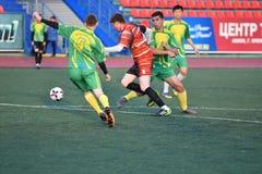 """€ de Orenburg, Rusia """"año del 8 de junio de 2017: Fútbol del juego de los muchachos Foto de archivo libre de regalías"""