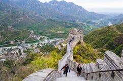 "€ de PEKÍN, CHINA ""14 de octubre de 2013: La Gran Muralla de China Fotos de archivo"
