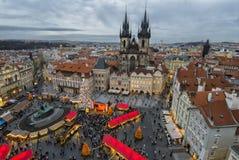 """€ de PRAGA, REPÚBLICA CHECA do """"mercados do Natal de Praga 12 de dezembro de 2011 Imagem de Stock Royalty Free"""
