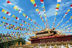 """€ de Sanya, China """"30 de septiembre de 2017: Templo de Guanyin Foto de archivo libre de regalías"""