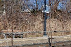 """€ de Toronto, Canadá do """"lugar de espera 4 de dezembro de 2018 pelo railw fotos de stock"""