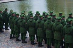 """€ de VOLGOGRAD """"o 15 de outubro: Parada militar Foto de Stock"""