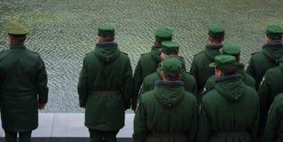 "€ de VOLGOGRAD ""o 15 de outubro: Parada militar Fotos de Stock"
