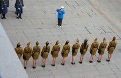 """€ de VOLGOGRAD """"o 15 de outubro: Parada militar Imagem de Stock Royalty Free"""