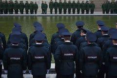 """€ de VOLGOGRAD """"o 15 de outubro: Parada militar Fotografia de Stock"""