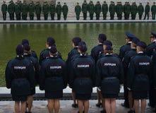 """€ de VOLGOGRAD """"o 15 de outubro: Parada militar Imagens de Stock Royalty Free"""