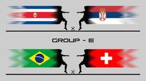 "€ 2018 del grupo de país del fútbol ""E libre illustration"