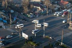 """€ di CHISINAU, MOLDAVIA """"21 dicembre 2015: Minibus, trasporto pubblico Fotografia Stock Libera da Diritti"""