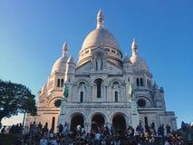 """€ di Parigi, Francia """"7 maggio 2018: la basilica di Sacre Coeur sulla collina di Montmartre immagini stock"""