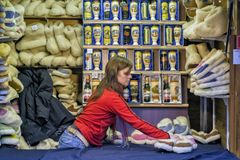 """€ di PRAGA, REPUBBLICA CECA """"mercati di Natale di Praga del 12 dicembre 2011 Fotografia Stock"""