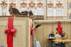 """€ di PRAGA, REPUBBLICA CECA """"mercati di Natale di Praga del 12 dicembre 2011 Fotografia Stock Libera da Diritti"""