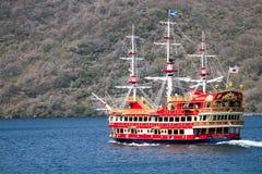 """€ di Tokyo, Giappone """"15 aprile 2013: Crociera del pirata sul lago Ashi Immagine Stock"""
