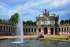 """€ Germania/di Dresda"""" 11 agosto 2013: il palazzo di Zwinger, un palazzo reale barrocco nel centro di Dresda, Sassonia Fotografia Stock Libera da Diritti"""