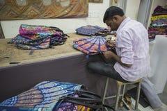 """€ JAIPURS, Rajasthan, Indien """"im Dezember 2016: Schneider bei der Arbeit in Indien Stockfotografie"""