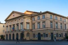 "€ LUCCAS, ITALIEN ""am 23. Mai 2017: Teatro-comunale Del Ciglio an Quadrat Marktplatz Napoleone Napoleone lizenzfreie stockfotos"