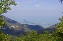 """€ ponte di Hong Kongâ """"di Zhuhai†""""Macao in Lantau immagine stock libera da diritti"""