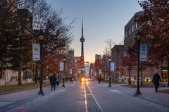 "€ Torontos, Kanada ""am 4. Dezember 2018 University of Toronto stockbild"