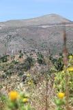 € Vathia «покинутое город-привидение в Mani, Peleponnese Греции Стоковые Фото