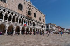 "€ VENEDIGS, ITALIEN ""am 23. Mai 2017: Venedig-Stadtbild Ansicht Sans Marco Square Piazza San Marco Stockfoto"
