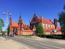 "€ Vilnius, Litauen ""am 2. Mai 2018: St- Anne` s Kirche UNESCO-Welterbe stockfotos"