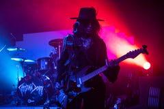 "€ Zagrebs, Kroatien ""kann 30 2019 Konzert des gotischen Rockbands Christian Death des Kults in Zagreb stockfotografie"