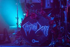 "€ Zagrebs, Kroatien ""kann 30 2019 Konzert des gotischen Rockbands Christian Death des Kults in Zagreb lizenzfreie stockbilder"