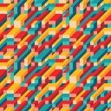 介绍、小册子、网站和其他设计项目的抽象几何传染媒介背景 马赛克色的无缝的样式 向量例证